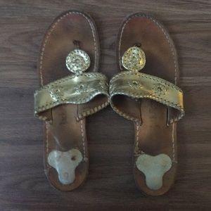 Jack Rogers gold sandals